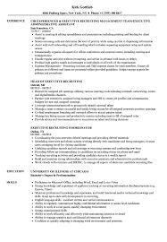 Executive Recruiting Resume Samples Velvet Jobs