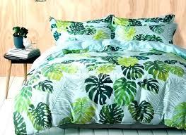 palm leaf duvet cover fresh tropical green leaves print cotton 4 piece bedding sets duvet cover palm leaf duvet cover west elm leaf design duvet covers
