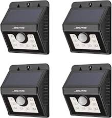 Mr. Beams <b>Solar</b> Wedge <b>8 LED</b> Security <b>Outdoor</b> Motion Sensor ...
