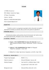 RESUME V. PRABU. B.tech.Civil 6/55, Malliyam narasimman ...