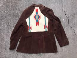 details about pioneer wear men s suede leather western jacket vintage size 40
