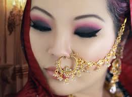 c and black smokey eye makeup tutorial for monolids asian indian bridal makeup tutorial