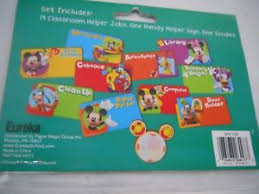 Mickey Mouse Job Chart Details About Eureka Mickey Mouse Handy Helper Job Chart Mini Bulletin Board Set 16 Pieces