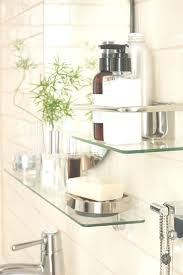 custom tempered glass shelf beautiful best glass bathroom shelves ideas on tile shower within custom tempered