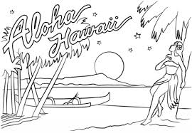 Aloha Hawaii Coloring Page Free Printable Coloring Pages