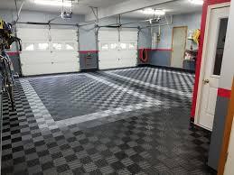 amazing before and after garage floor tile garage