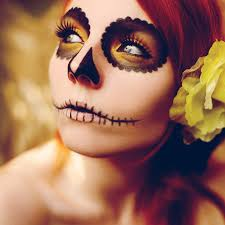 image of sugar skull face paint style