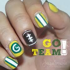 Go Team! Packers Nail Art – JessiiBrownie