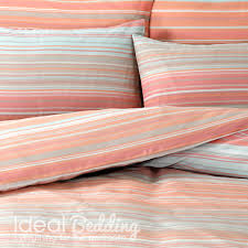 ombre stripe peach design duvet quilt bedding cover and pillowcase bedding set duvet sets complete bedding sets bed sheets pillowcase