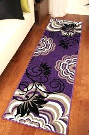 purple rug runner long hall small large colourful hallway mat wedding floor transitional carpet als and grey bath