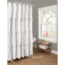 white darla 96 inch shower curtain with wooden floor and grey wall for bathroom decoration ideas
