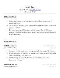 Child Care Resume Sample How To Write Babysitting On Resume Unique Kids Resume