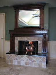 transitional fireplace crown and columns built in with over mantel mirror mirrors decoration decorate using wall