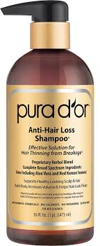 Pura D Or Premium Organic Anti Hair Loss Shampoo Gold Label 16