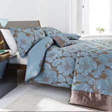 bedroom fl luxury duvet covers in blue and brown also