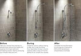 kohler shower fixtures brushed nickel
