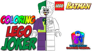 Small Picture Lego Joker Minifigure LEGO Batman Coloring Pages for Kids YouTube
