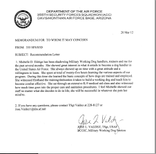 Sample Airforce Recommendation Letter af letter of recommendation - Ecza.solinf.co