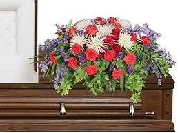 description these funeral flowers