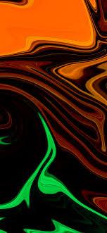 1125x2436 Orange Green Float 4k Iphone ...