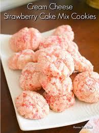 Cream Cheese Strawberry Cake Mix Cookies Across The Blvd