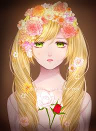 long hair blonde green eyes anime anime s flowers crying hd wallpapers desktop and mobile images photos