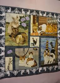 546 best Cat quilts images on Pinterest   Hand crafts, Stitches ... & 2015 Tokyo International Great Quilt Festival. Cat quilt. Photo by Koala's  Place. Adamdwight.com