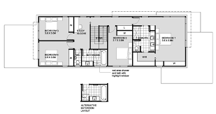 Modern style house plan 4 beds 2 50 baths 2820 sq ft plan 496