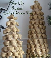 buying them I decided to make my own Burlap Christmas Trees. I previously  decided to change up my Christmas theme from Winter Wonderland (lots of  crystals, ...
