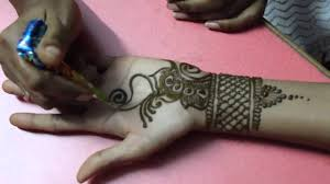 Simple Arabic Mehndi Design Tutorials For Hands Love Mehndi