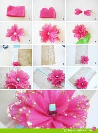 Tissue Paper Flower Pinterest Diy Tissue Paper Flower You Could Put It On Birthday Cards Diy