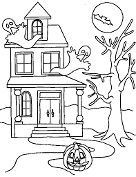 Small Picture Simple Haunted House Coloring Pages Coloring Coloring Pages