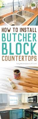 here is the process we used to install our butcher block countertops as well as