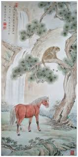 saatchi art artist qin shu painting monkey above the horse be success
