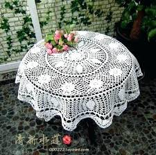 vintage crochet colored round doily small table cloth white tablecloth