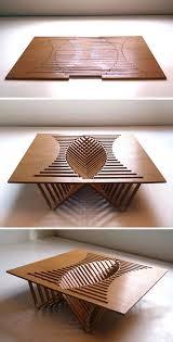 interesting furniture design. robert van embricqsu0027 rising table interesting design fabricated from a single sheet of wood furniture