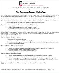 Resume Career Objective Sample Best of Career Objective Samples For Resume Lespa