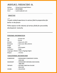 Sample Resume Example Tagalog New Sample Ng Resumes Mini Mfagency ...