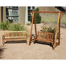 ... Q Toys wooden timber garden swing for toddler or adult