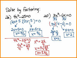 how to solve by factoring solving quadratic equations worksheet algebra how equation last thumb see