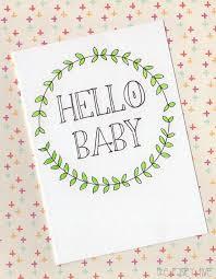 Babygirl Cards Hello Baby Greeting Card Nursery Decor New Baby