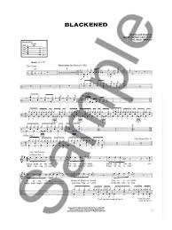 drums sheet music metallica and justice for all drum edition drums sheet music