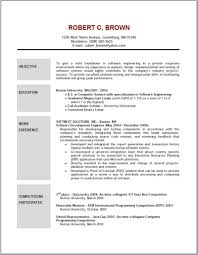 Example Of Resume Objective Nardellidesign Com