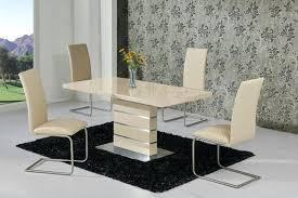 monte carlo cream ext 120 160cm high gloss dining table set dining chairs high gloss dining