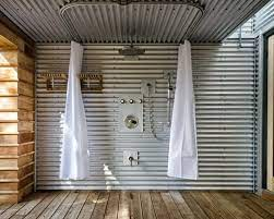 corrugated metal showers