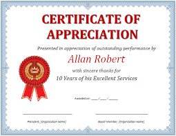 free templates for certificates of appreciation certificate appreciation template word ms word certificate of