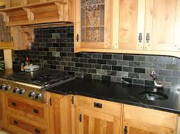black slate tile for kitchen backsplash