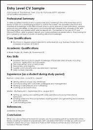 Entry Level Hr Resume No Experience Elegant Entry Level Cv