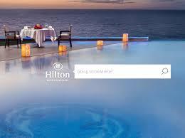 Claudia Rhea - Hilton Worldwide - Homepage design concept