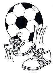 Voetbal Schoenen Kleurplaat Sport Theme Voetbal Kleurplaten En